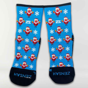 Masked Santas Socks (Mini-Crew)Socks - Zensah