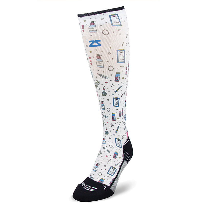 Medical Doodle Compression Socks (Knee-High)