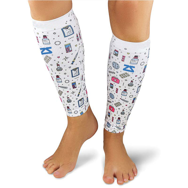 Medical Doodle Compression Leg SleevesLeg Sleeves - Zensah
