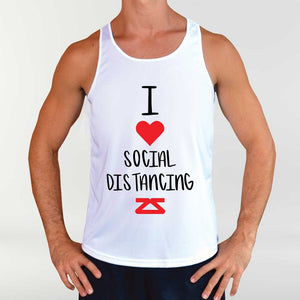 "Men's ""I Love Social Distancing"" Singlet"