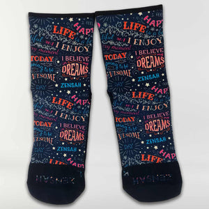 Motivational Quotes Socks (Mini-Crew)
