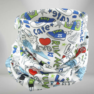 New York Doodle Multi-Use Neck Gaiter & Headwear