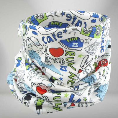 New York Doodle Multi-Use Neck Gaiter & Headwear - Zensah