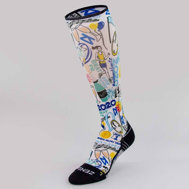 2020 Doodle Compression Socks (Knee-High)