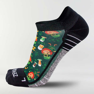 Happy Leprechauns Running Socks (No Show) - Zensah