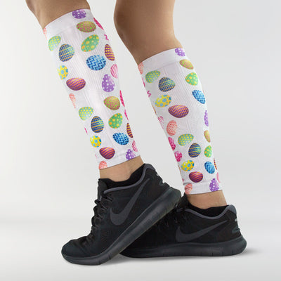 Painted Easter Eggs Compression Leg SleevesLeg Sleeves - Zensah