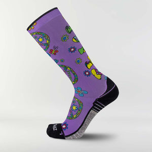 Peace Signs Compression Socks (Knee-High)