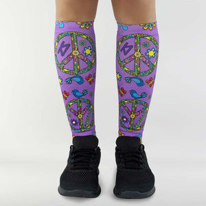 Peace Signs Compression Leg Sleeves