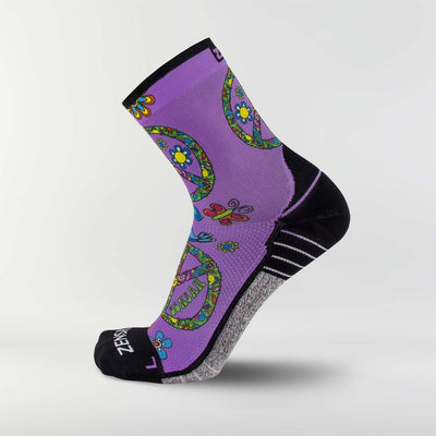Peace Signs Running Socks (Mini-Crew)Socks - Zensah