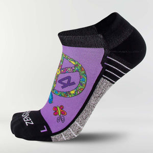 Peace Signs Running Socks (No Show)