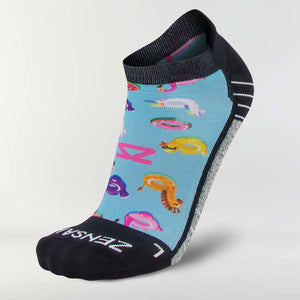 Pool Floats Running Socks (No Show)