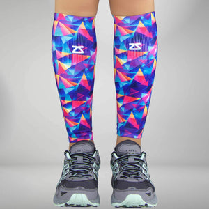 Retro Triangles Compression Leg Sleeves