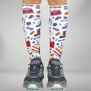 Chicago Doodle Compression Leg Sleeves