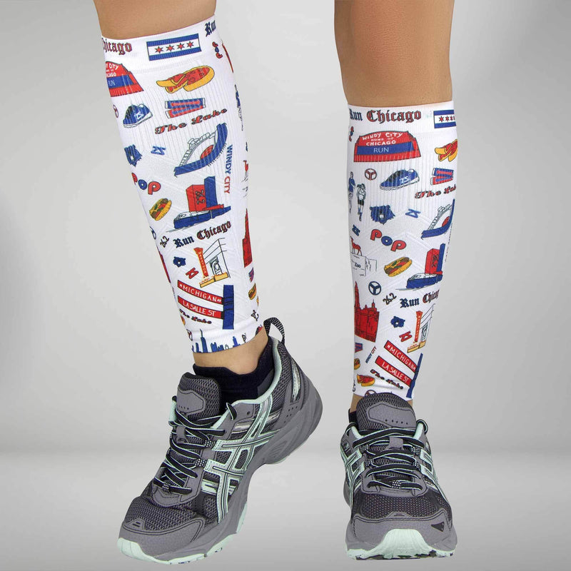 Chicago Doodle Compression Leg SleevesLeg Sleeves - Zensah