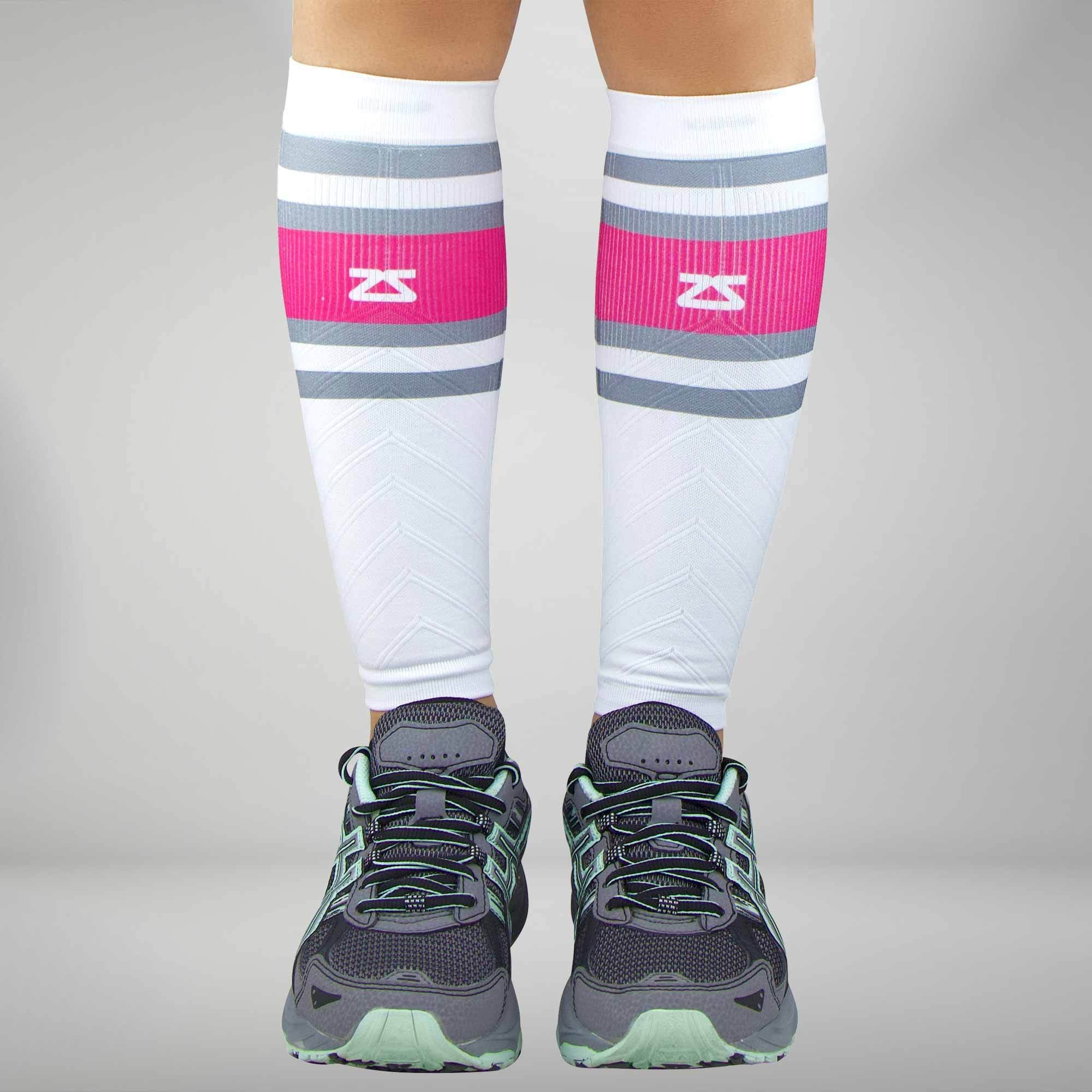 Retro Border Stripes Compression Leg Sleeves