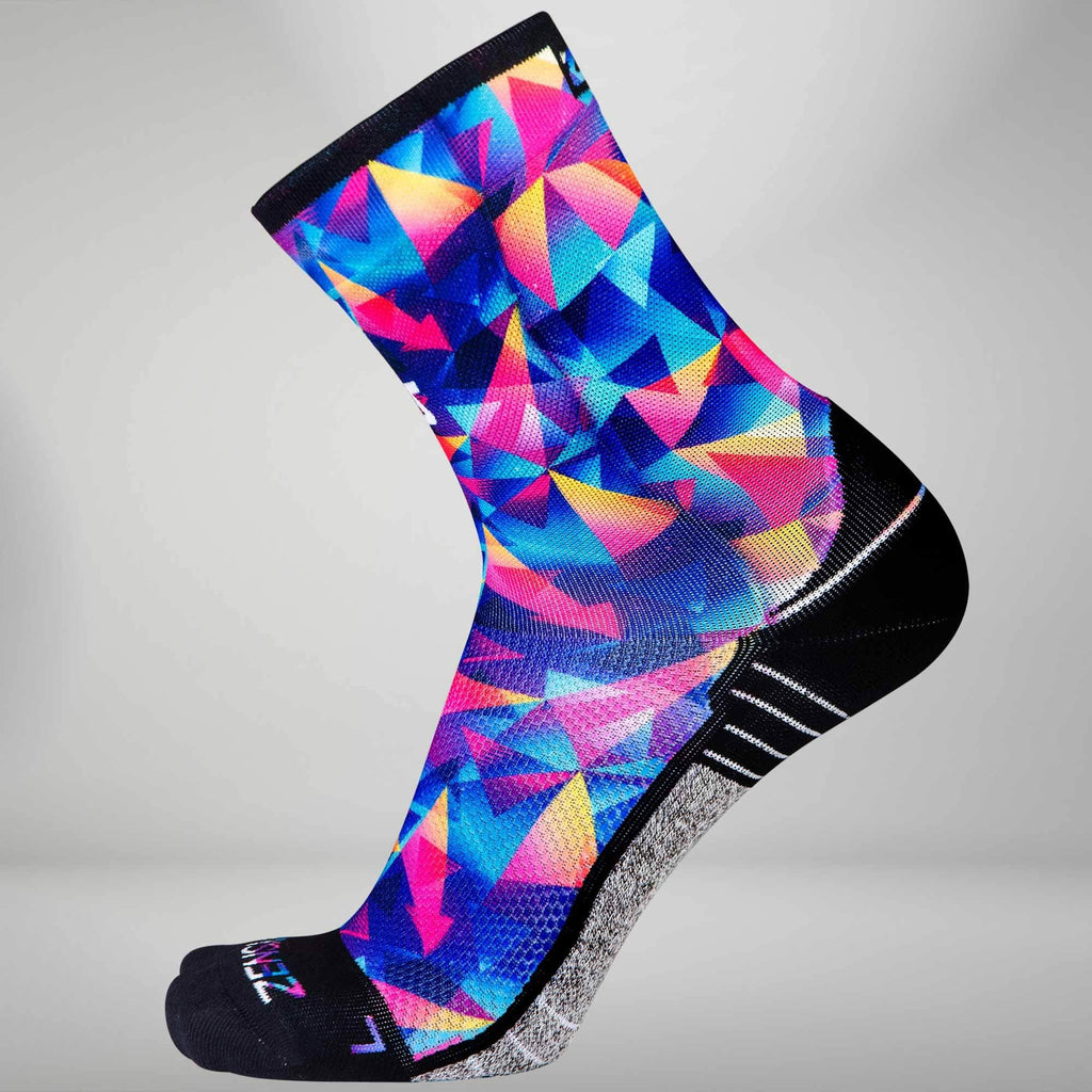 Retro Triangles Socks (Mini Crew)