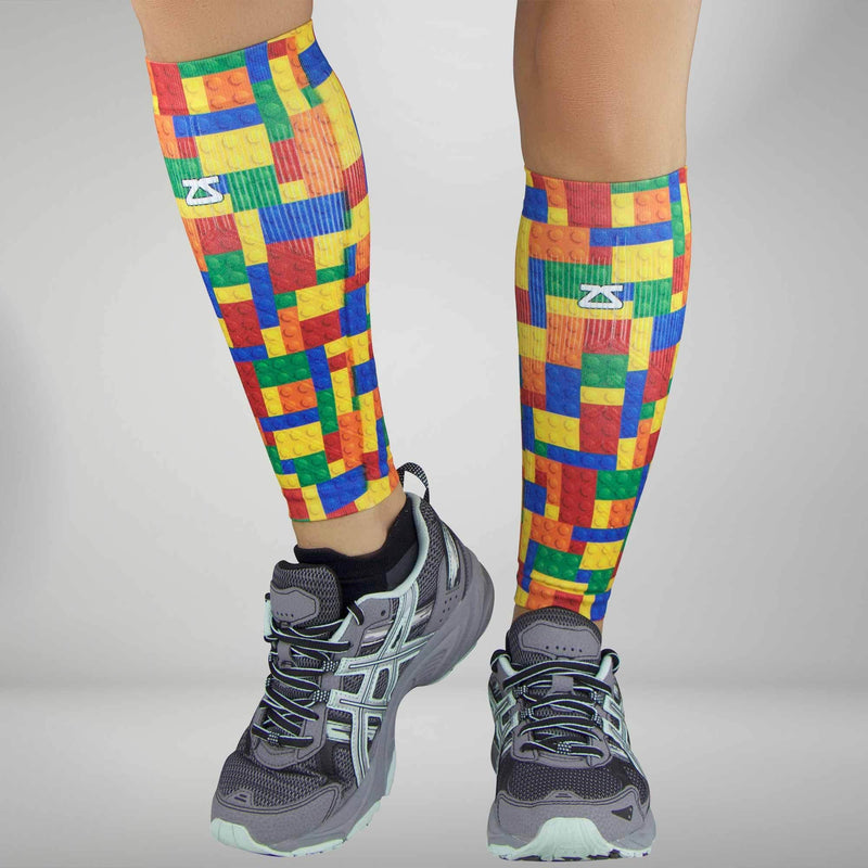 Puzzle Block Compression Leg Sleeves