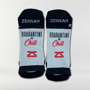 Quarantine and Chill Running Socks (No Show)
