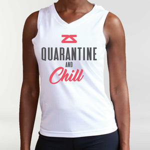 "Women's ""Quarantine & Chill"" Singlet"