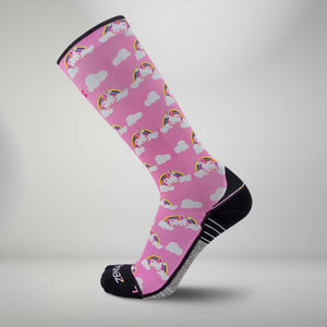 Rainbow Unicorns Socks (KNEE-HIGH)Socks - Zensah