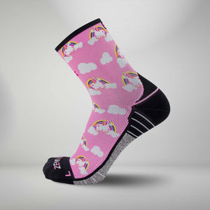 Rainbow Unicorns Socks (Mini-Crew)