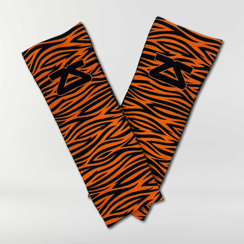 Tiger Print Compression Leg Sleeves