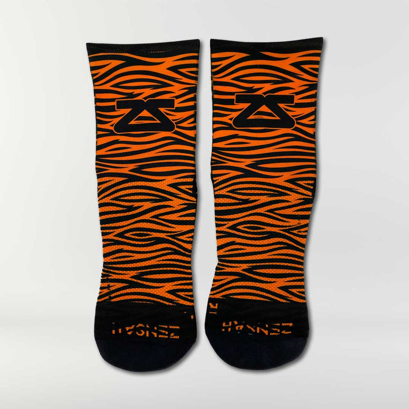 Tiger Print Running Socks (Mini-Crew)