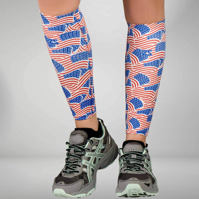 USA Flag Compression Leg Sleeves