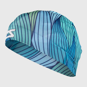 Abstract Waves Skull Cap Beanie