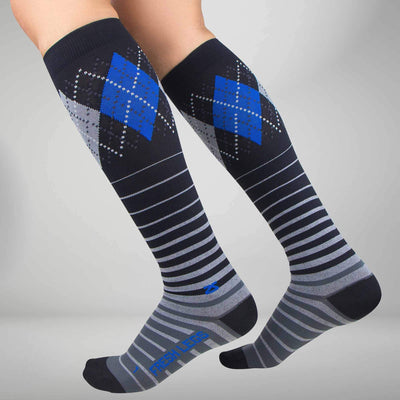 Argyle Stripe Compression SocksSocks - Zensah