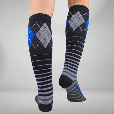 Argyle Stripe Compression Socks