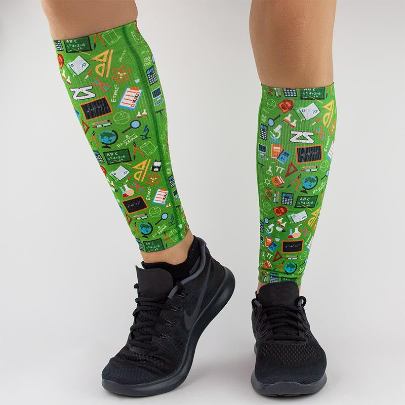 School Collage Compression Leg Sleeves