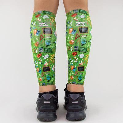 School Collage Compression Leg SleevesLeg Sleeves - Zensah