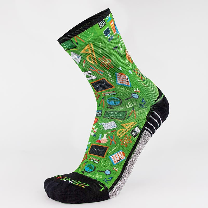 School Collage Socks (Mini-Crew)
