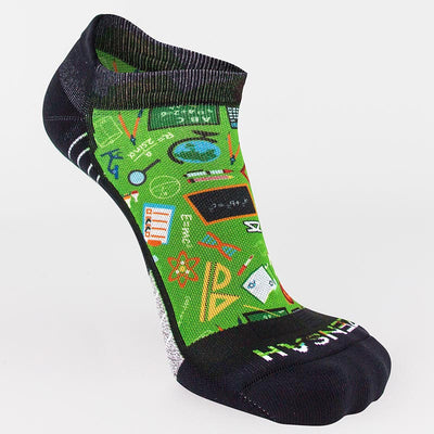 School Collage Running Socks (No Show)