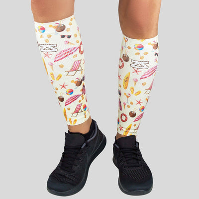 Beach Collage Compression Leg Sleeves