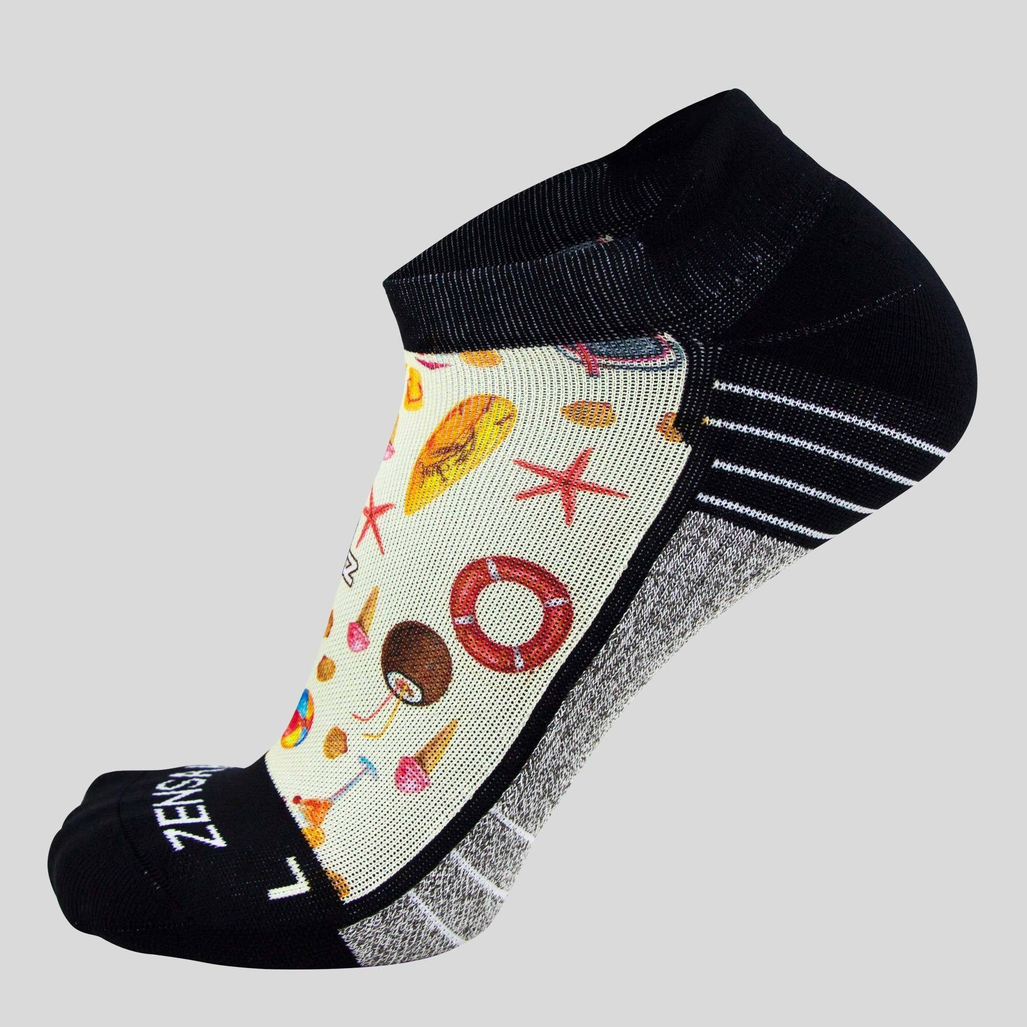 Beach Collage Socks (No Show)