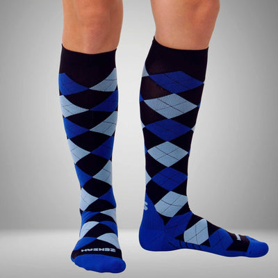 Argyle Compression Socks