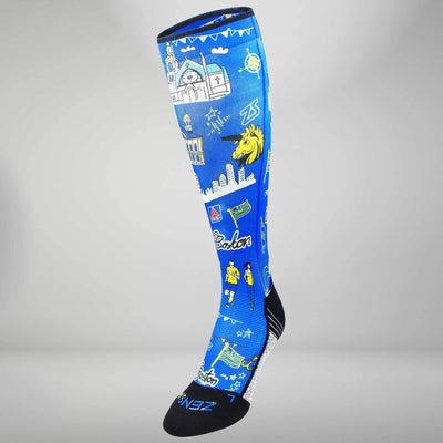 Boston Doodle 2.0 Compression Socks (Knee-High)Socks - Zensah