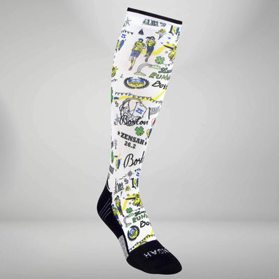 Boston Doodle Compression Socks (Knee-High)Socks - Zensah