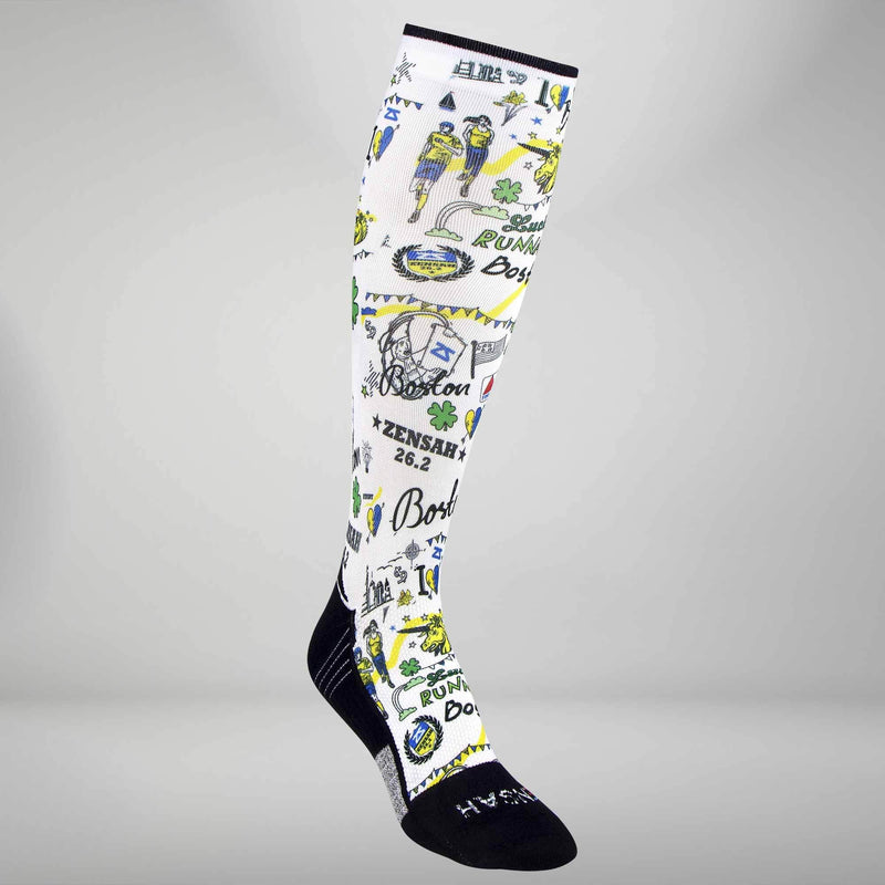 Boston Doodle Compression Socks (Knee-High)