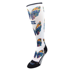 Butterflies Compression Socks (Knee-High)Socks - Zensah