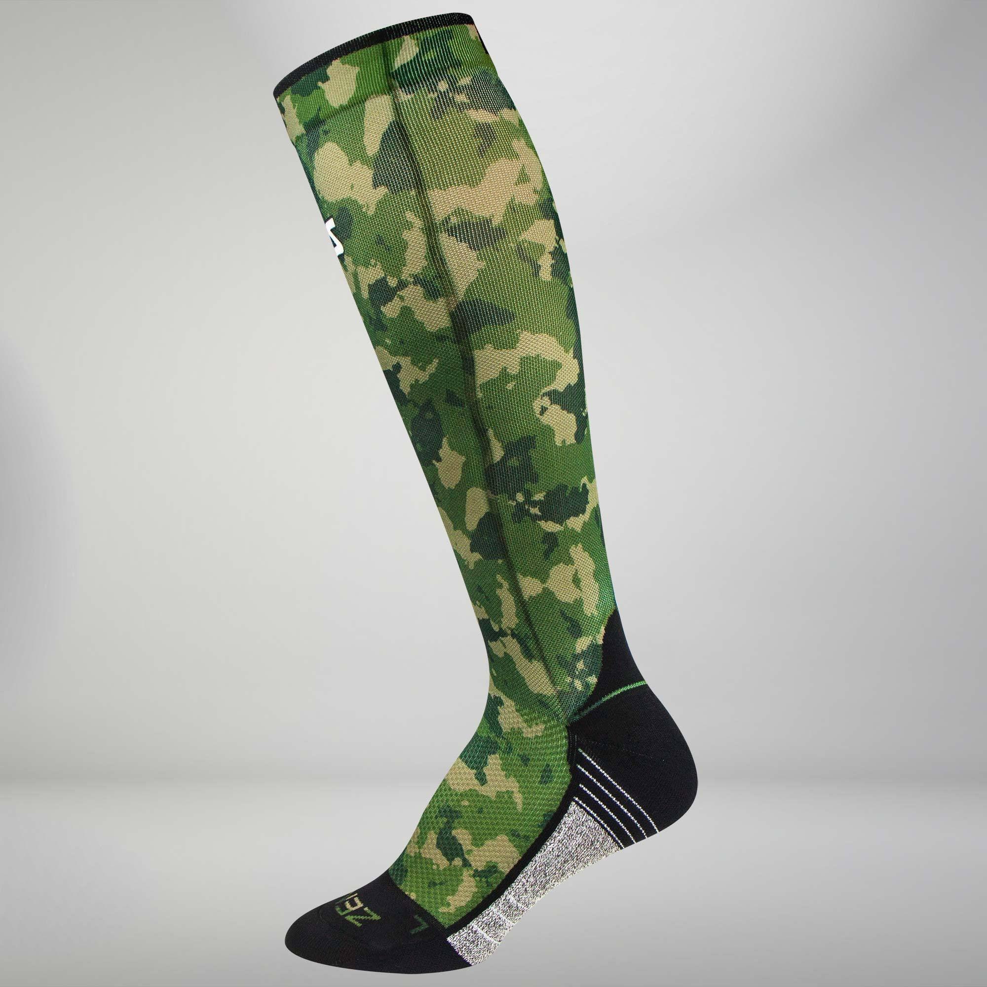 c0331c840a8 Army Green Camo Themed Running Socks