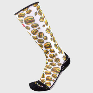 Cheeseburger Compression Socks (Knee-High)