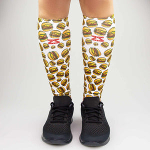 Cheeseburger Compression Leg Sleeves