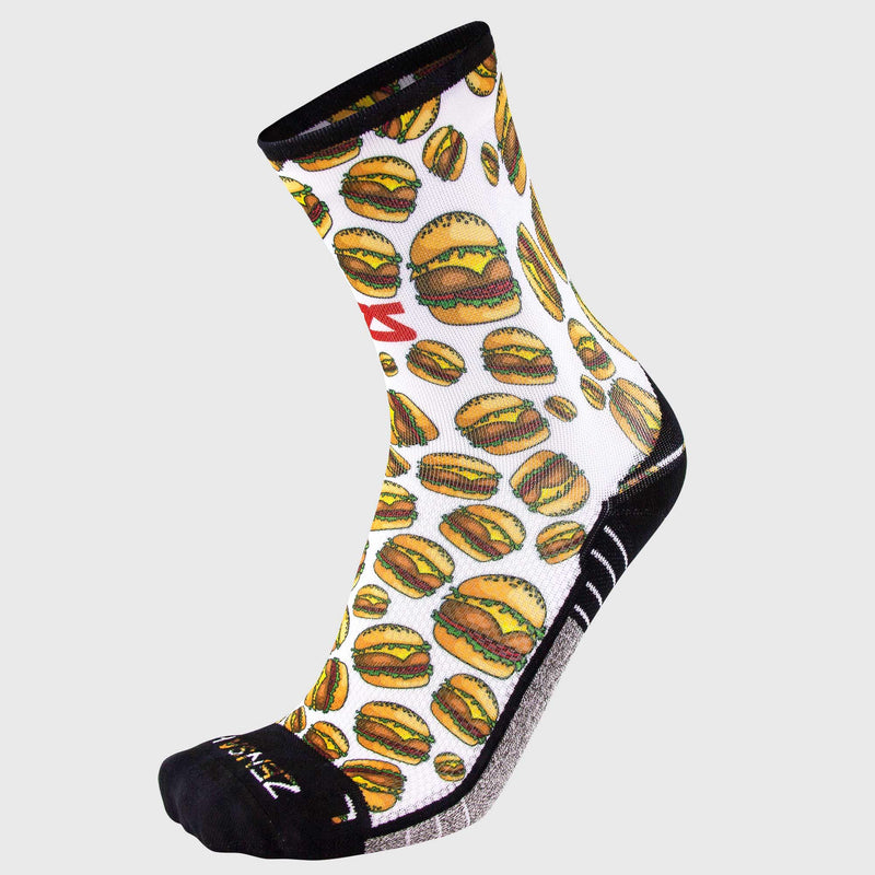 Cheeseburger Socks (Mini Crew)