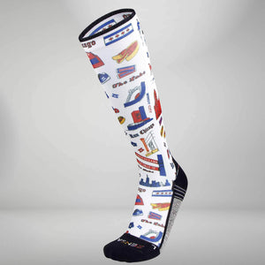 Chicago Doodle Compression Socks (Knee-High)Socks - Zensah