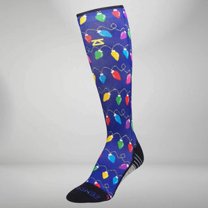 Christmas Lights Compression Socks (Knee-High)