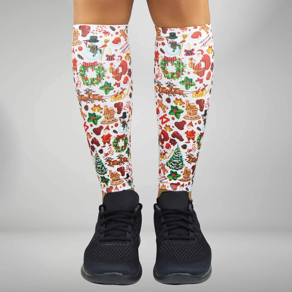 Christmas Paper Compression Leg Sleeves