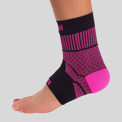 Compression Ankle Support Sleeve in Black and Pink